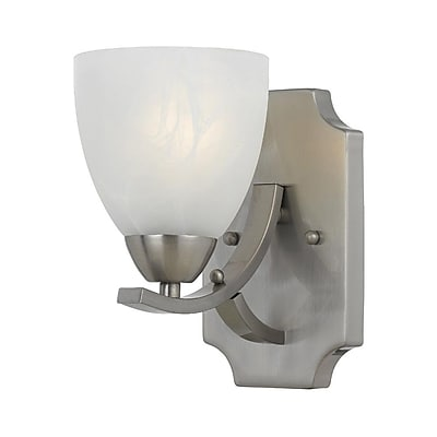 Lumenno Incandescent Wall Sconce - Satin Nickel Finish (8001-00-01)