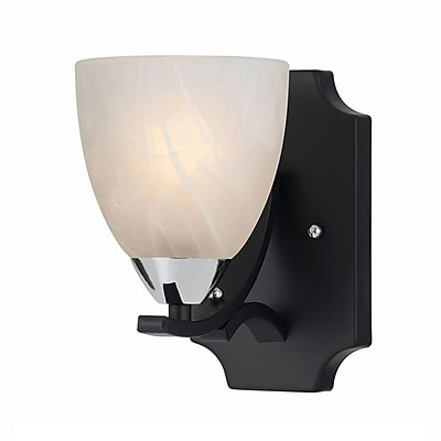 Lumenno Incandescent Wall Sconce - Black Finish With Chrome Accents (8004-00-01)