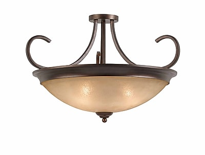 Lumenno Incandescent Semi Flush - Bronze (1001-01-27)