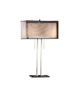 Aurora Lighting 2-Light Incandescent Table Lamp - chrome and black (STL-CST033854)