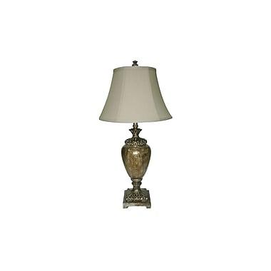 Aurora Lighting 1-Light Incandescent Table Lamp - Opulant Silver (STL-CST021844)
