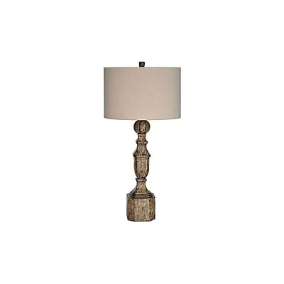 Aurora Lighting 1-Light Incandescent Table Lamp - Antique Painted Wood (STL-CST064834)