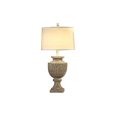 Aurora Lighting 1-Light Incandescent Table Lamp - Bleached Wood (STL-CST043143)