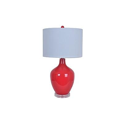Aurora Lighting 1-Light Incandescent Table Lamp - Red (STL-CST076097)