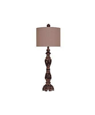 Aurora Lighting 1-Light Incandescent Table Lamp - Antique Iron (STL-CST069952)