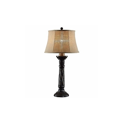 Aurora Lighting 1-Light Incandescent Table Lamp - Antique Black (STL-CST085396)