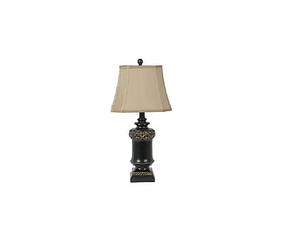 Aurora Lighting 1-Light Incandescent Table Lamp - Black and Gold (STL-CST037951)