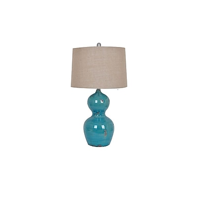 Aurora Lighting 1-Light Incandescent Table Lamp - Turquoise (STL-CST081183)