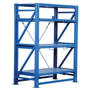 Vestil Heavy Duty Roll-Out 80'' H Three Shelf Shelving Unit; 80'' H x 57'' W x 32'' D