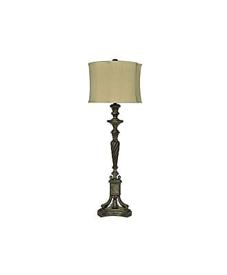 Aurora Lighting 1-Light Incandescent Table Lamp - Antiqaue Black (STL-CST065299)
