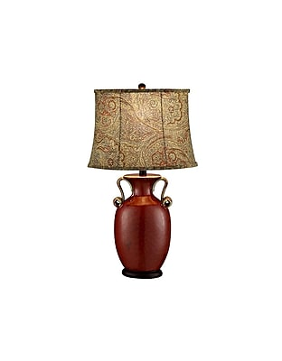 Aurora Lighting 1-Light Incandescent Table Lamp - Red Stone (STL-CST040449)