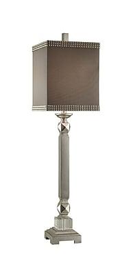 Aurora Lighting 1-Light Incandescent Table Lamp - Silver Leaf (STL-CST065411)