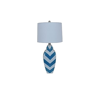 Aurora Lighting 1-Light Incandescent Table Lamp - Blue and White (STL-CST081206)