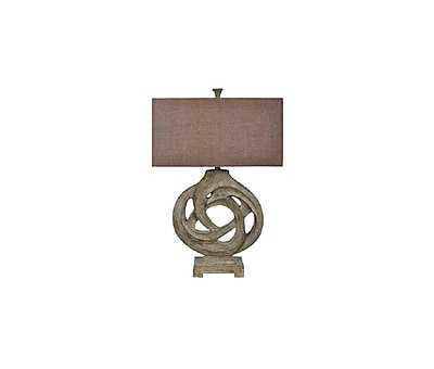 Aurora Lighting 1-Light Incandescent Table Lamp - Antique Wood (STL-CST051278)