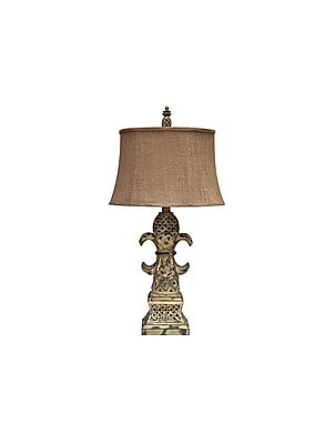 Aurora Lighting 1-Light Incandescent Table Lamp - Antique White Wash (STL-CST044836)
