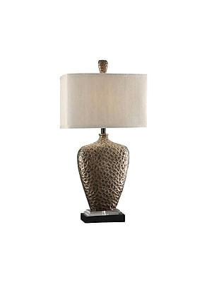 Aurora Lighting 1-Light Incandescent Table Lamp - Antique Brass (STL-CST061161)