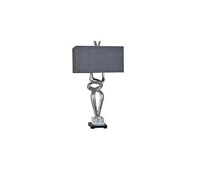 Aurora Lighting 1-Light Incandescent Table Lamp - Silver Leaf (STL-CST069983)