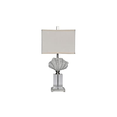 Aurora Lighting 1-Light Incandescent Table Lamp - White Shell (STL-CST070248)