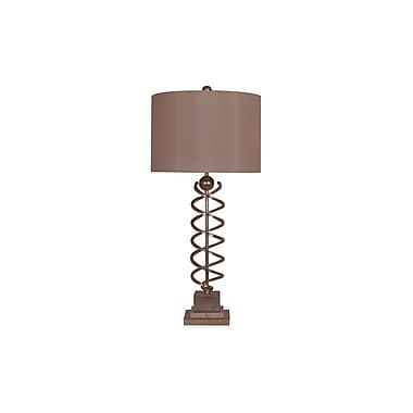 Aurora Lighting 1-Light Incandescent Table Lamp - Toasted Silver and Crystal (STL-CST069112)