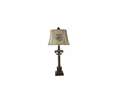 Aurora Lighting 1-Light Incandescent Table Lamp - Silver Opulence (STL-CST028768)