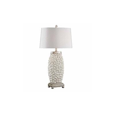 Aurora Lighting 1-Light Incandescent Table Lamp - Sand Shell Sivler (STL-CST085495)
