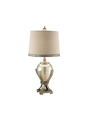 Aurora Lighting 1-Light Incandescent Table Lamp - Toasted SIlver (STL-CST070118)