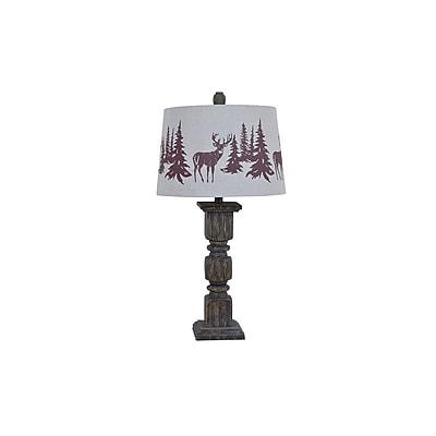 Aurora Lighting 1-Light Incandescent Table Lamp - Walnut (STL-CST085822)