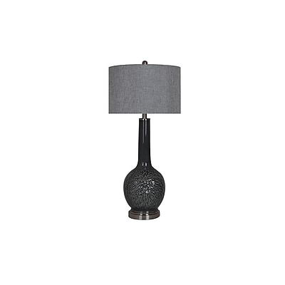 Aurora Lighting 1-Light Incandescent Table Lamp - Opal Grey (STL-CST071085)