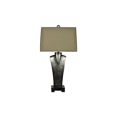 Aurora Lighting 1-Light Incandescent Table Lamp - Toasted Silver (STL-CST050431)