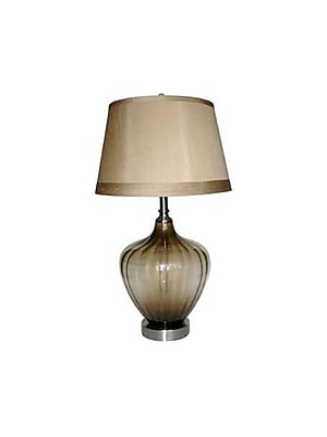 Aurora Lighting 1-Light Incandescent Table Lamp - Brushed Nickel (STL-CST006049)