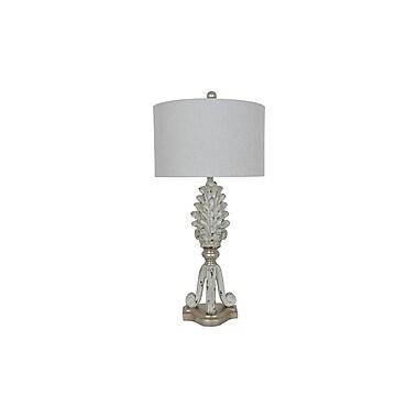 Aurora Lighting 1-Light Incandescent Table Lamp - Blond Silver (STL-CST085617)