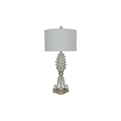 Aurora Lighting 1-Light Incandescent Table Lamp - Blond Silver (STL-CST085617)