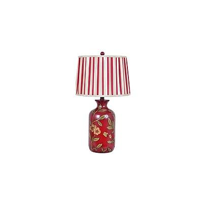 Aurora Lighting 1-Light Incandescent Table Lamp - Red Floral (STL-CST079234)