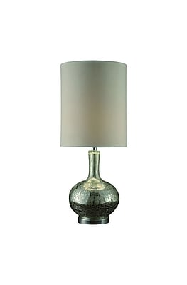 Aurora Lighting 1-Light Incandescent Table Lamp - Silver Mercury (STL-CST060768)