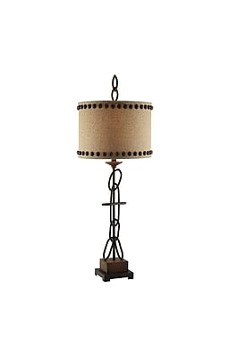 Aurora Lighting 1-Light Incandescent Table Lamp - Rusted Metal (STL-CST065435)
