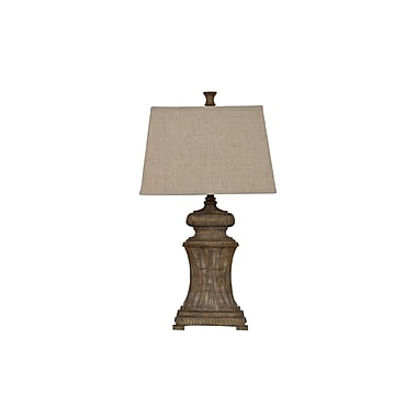 Aurora Lighting 1-Light Incandescent Table Lamp - Aged Wood (STL-CST051285)