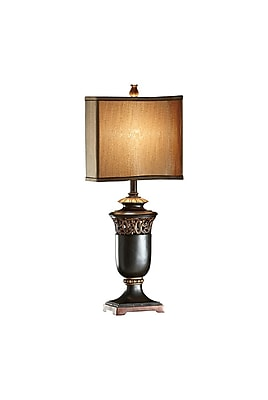 Aurora Lighting 1-Light Incandescent Table Lamp - Black and Gold (STL-CST023879)
