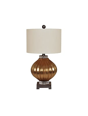 Aurora Lighting 1-Light Incandescent Table Lamp - Gold (STL-CST070514)