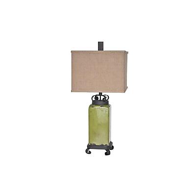 Aurora Lighting 1-Light Incandescent Table Lamp - Tuscan Green (STL-CST064612)