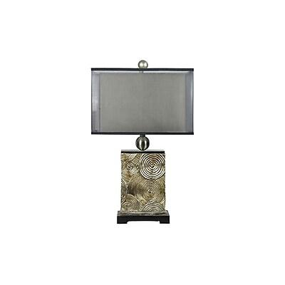Aurora Lighting 1-Light Incandescent Table Lamp - Antique Silver Leaf (STL-CST054026)