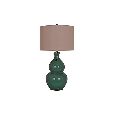 Aurora Lighting 1-Light Incandescent Table Lamp - Turquoise (STL-CST065404)