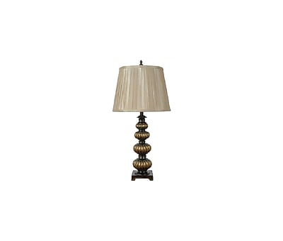 Aurora Lighting 1-Light Incandescent Table Lamp - Old Gold and Bronze (STL-CST039832)
