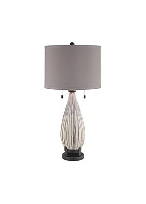 Aurora Lighting 1-Light Incandescent Table Lamp - Ceramic Mason Drip (STL-CST050622)