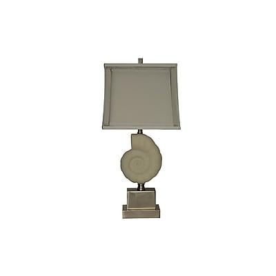 Aurora Lighting 1-Light Incandescent Table Lamp - Satin Nickel (STL-CST064964)