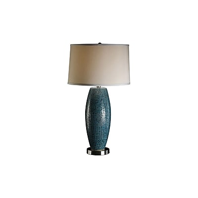 Aurora Lighting 1-Light Incandescent Table Lamp - Turquoise Blue Pearlized (STL-CST028973)