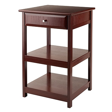 Winsome Delta Printer Stand, Walnut Finish, (94121)