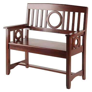 Winsome Ollie Bench, Walnut, (94045)