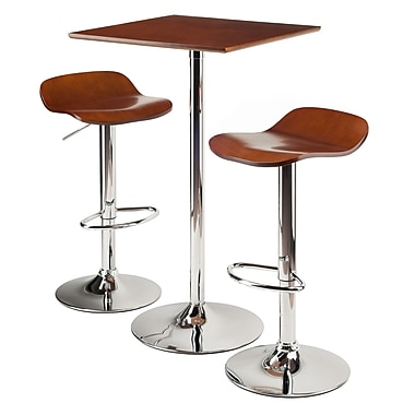 Winsome Kallie 3-Piece Pub Table Set, Bar Height Stools, (93385)