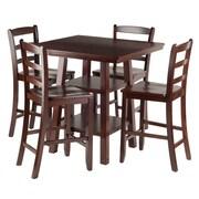 Winsome – Table haute Orlando 5 pièces avec tabourets au dos en V (94542)