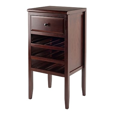 Winsome Orleans Modular Buffet with Drawer, 12-Bottle Wine Rack, Cappuccino Finish, (40717)